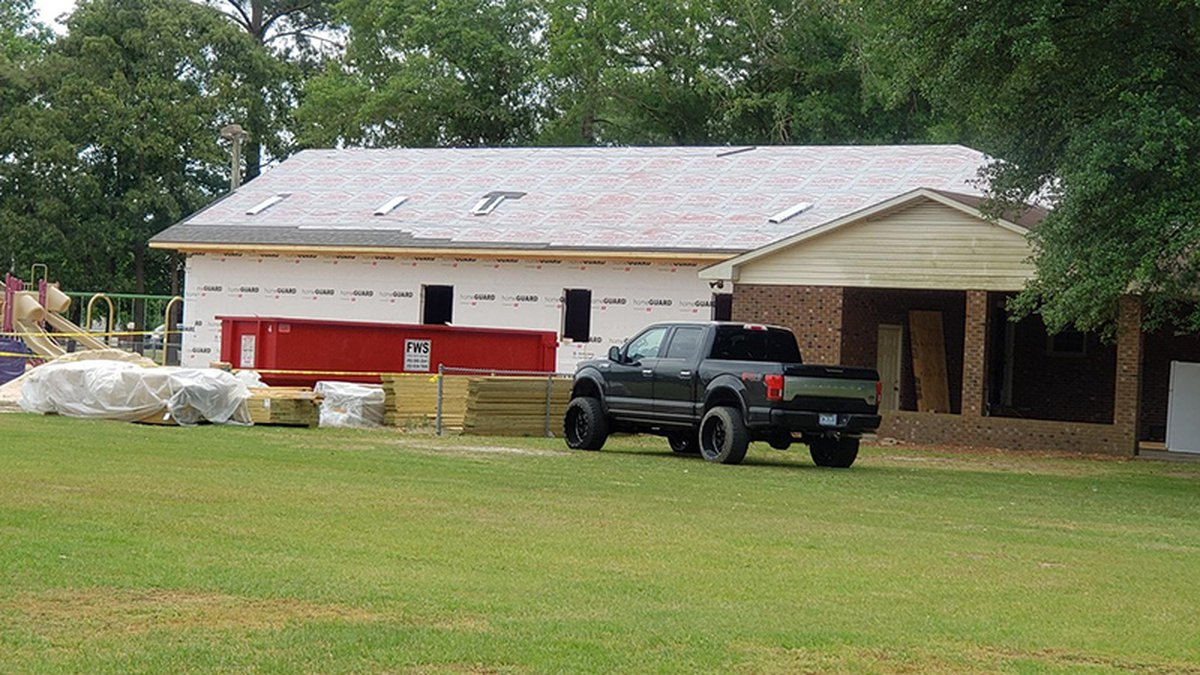 The fall happened at a church youth center on South Caswell Street.