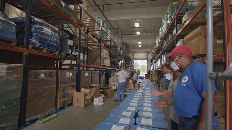 Red Cross sending supplies and volunteers