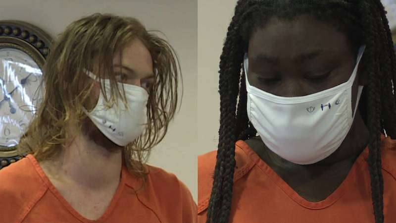 Zackery Phelps and Mellony McIver went before a judge Monday morning in Beaufort.