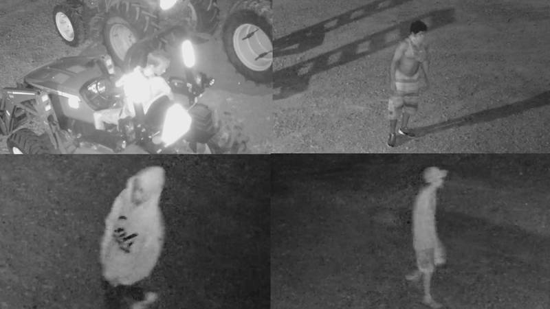 Washington County Sheriff's Office is looking for four suspects in a theft on Wednesday, July...