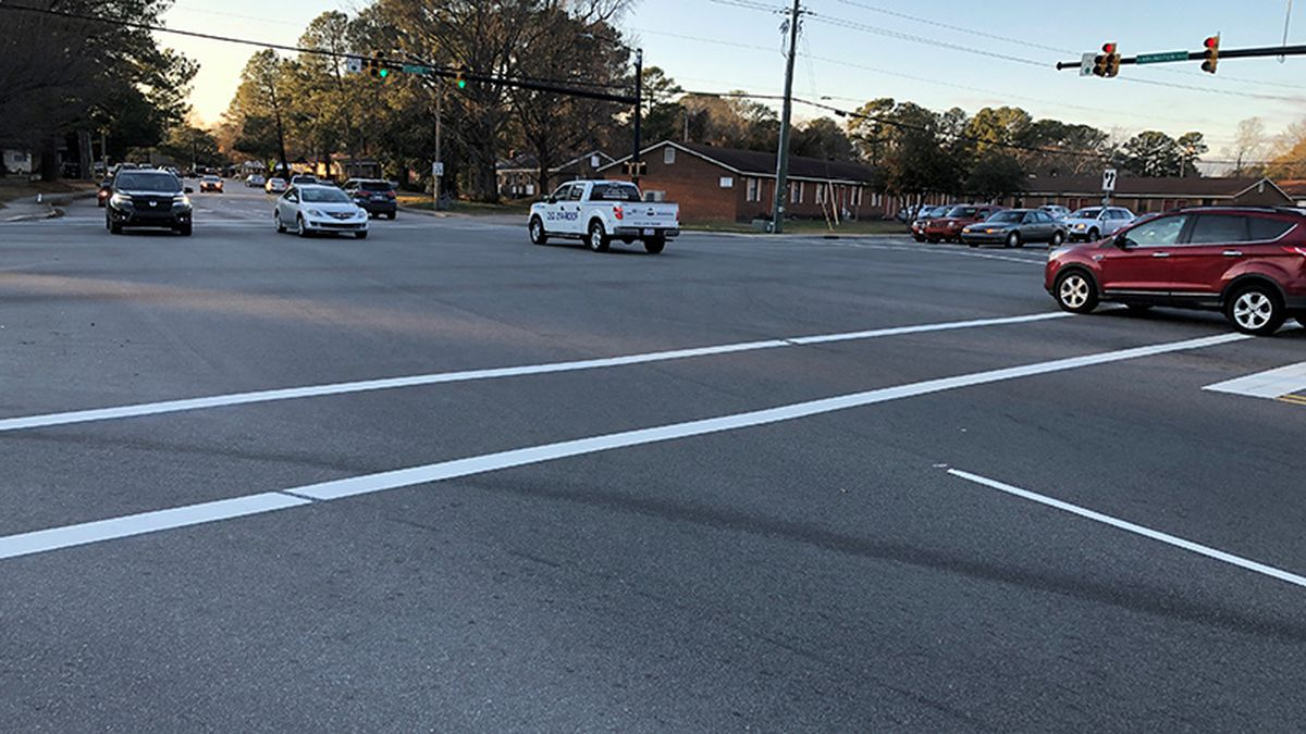 Police say the moped driver was killed near this Greenville intersection.