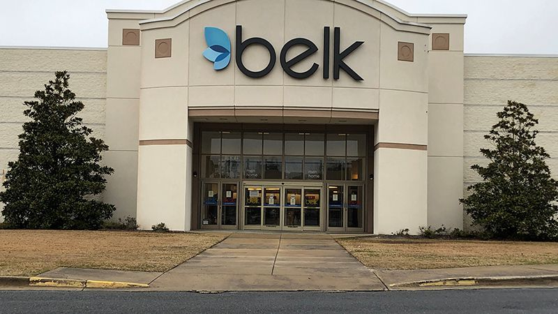 This is the Belk store at the Greenville Mall.