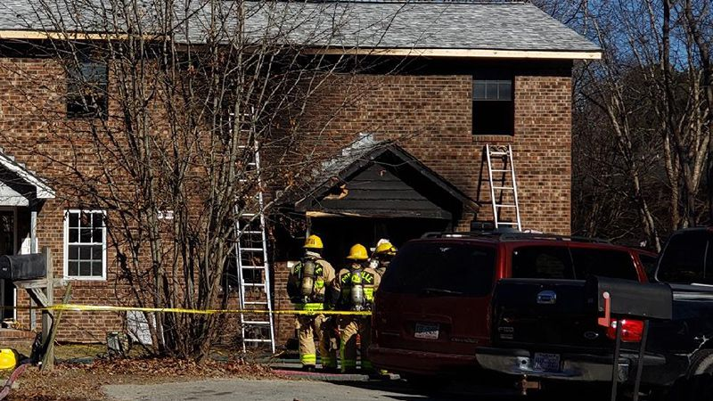 Two apartments were damaged Monday morning.