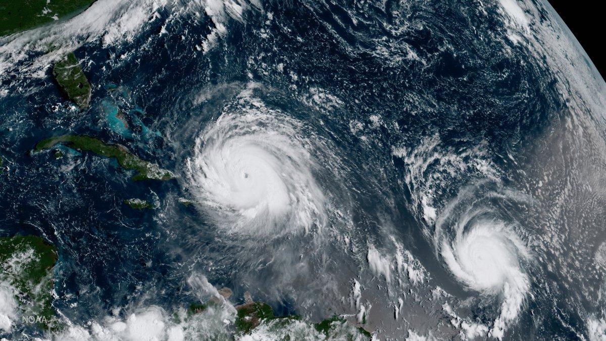 FILE - This Thursday, Sept. 7, 2017 GOES-16 satellite image shows the eye of Hurricane Irma,...