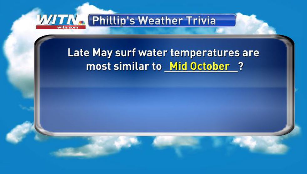 Phillip's Weather Trivia Answer May 26