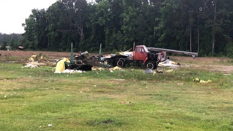 Tornado damage in Duplin County