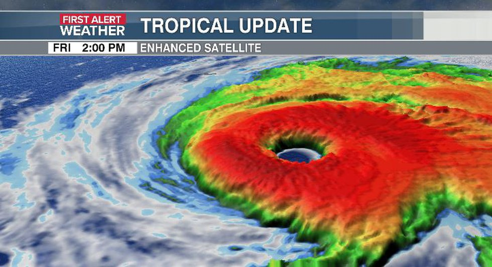 Eye of Hurricane Sam