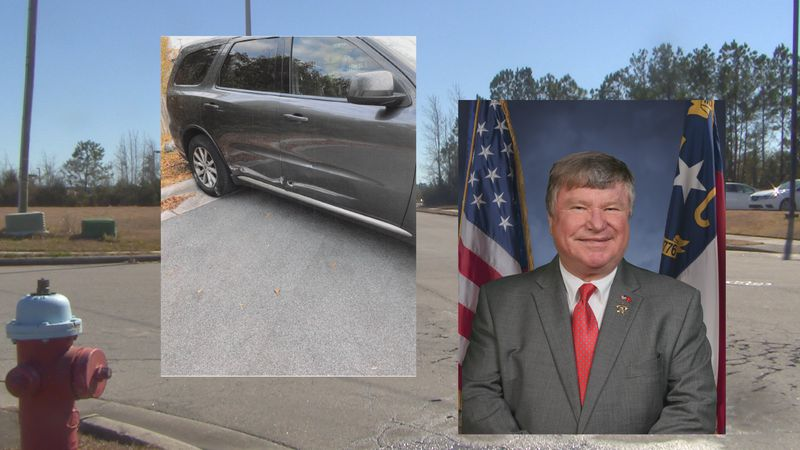 Onslow County Sheriff Hans Miller hit a fire hydrant in Jacksonville, causing more than $3,600...