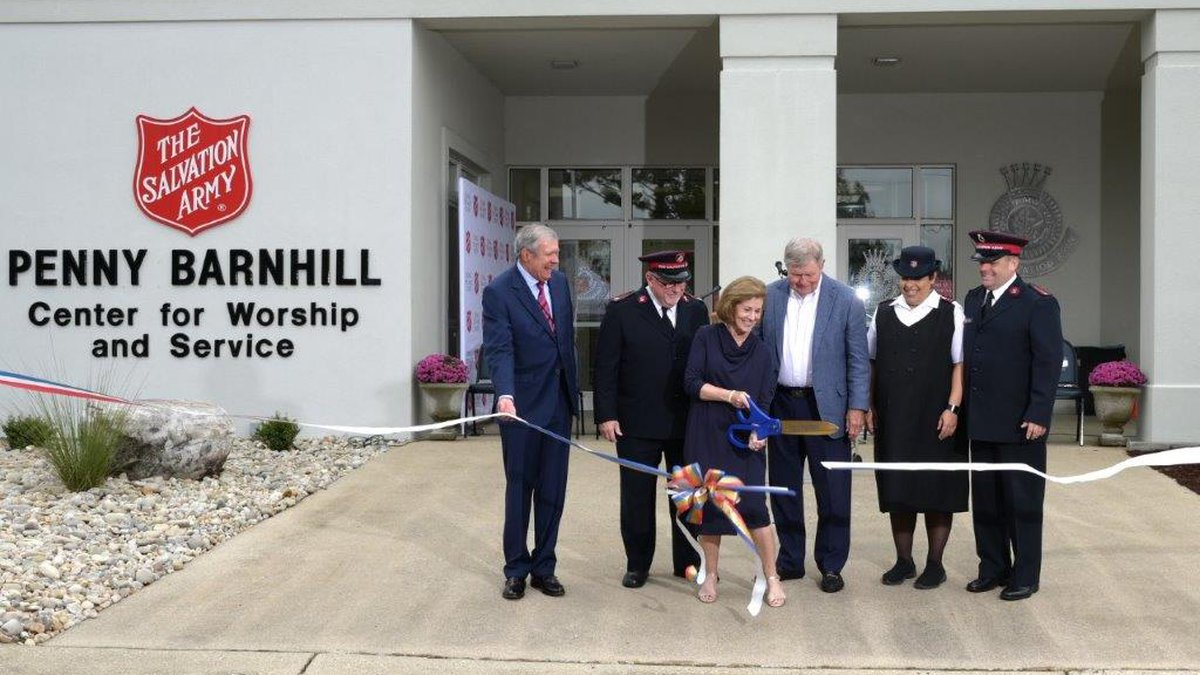 The Salvation Army - Penny Barnhill Center for Worship and Service opens.
