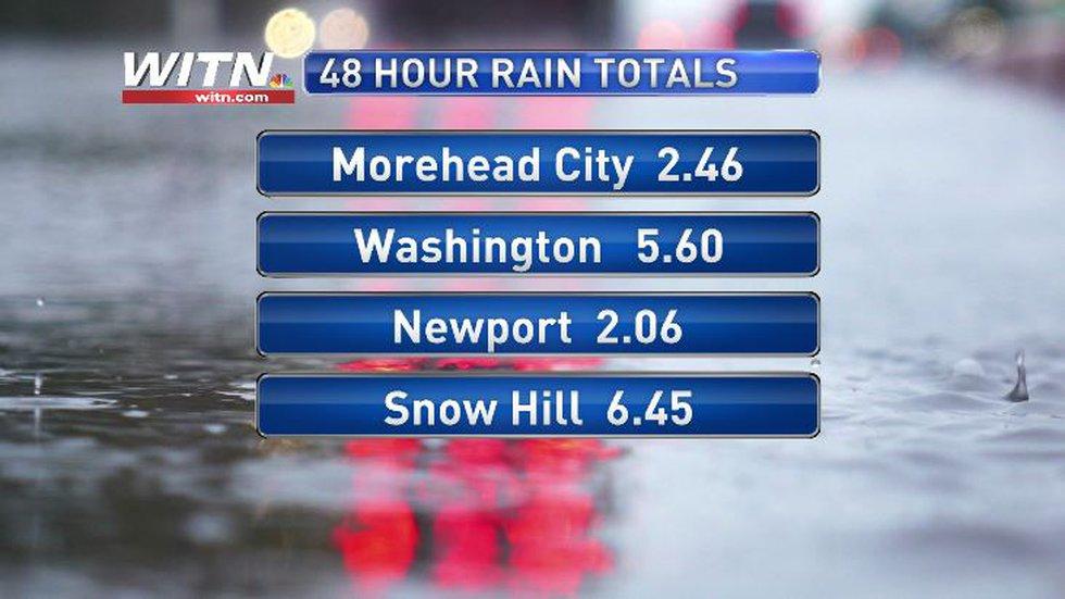 48 Hour Rain totals