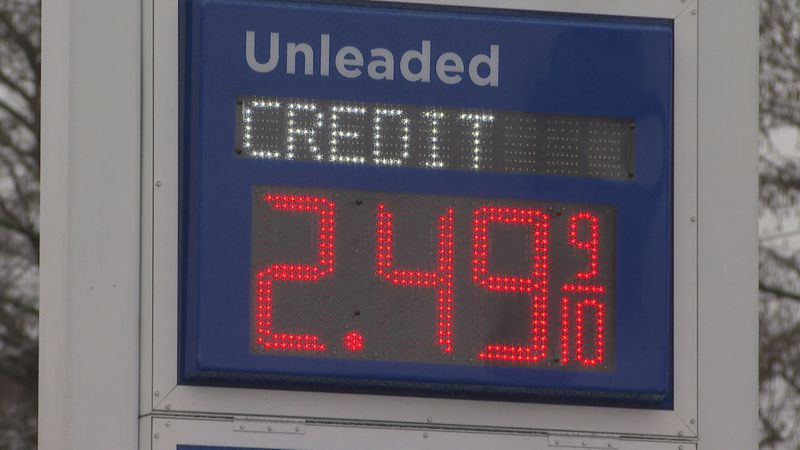 Due to the severe weather in Texas, gas prices rise.