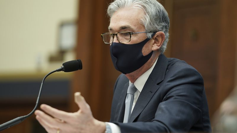 Federal Reserve Chairman Jerome Powell testifies before a House Financial Services Committee...