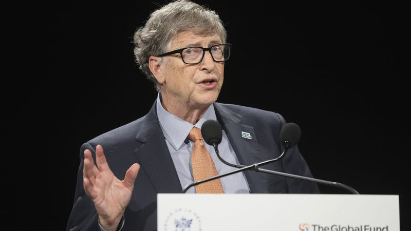 In this Oct. 10, 2019 file photo, philanthropist and Co-Chairman of the Bill & Melinda Gates...