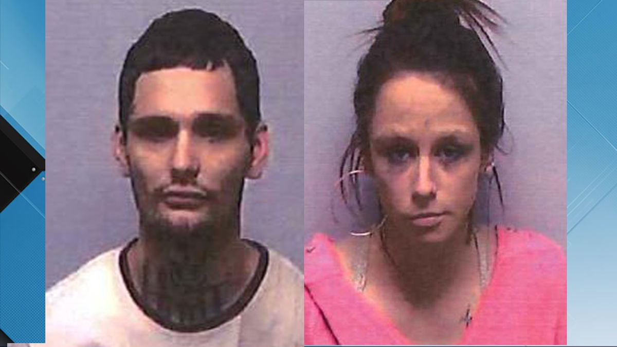 Hunter Martin and Victoria Frazier were charged after a jewelry store robbery and police chase.