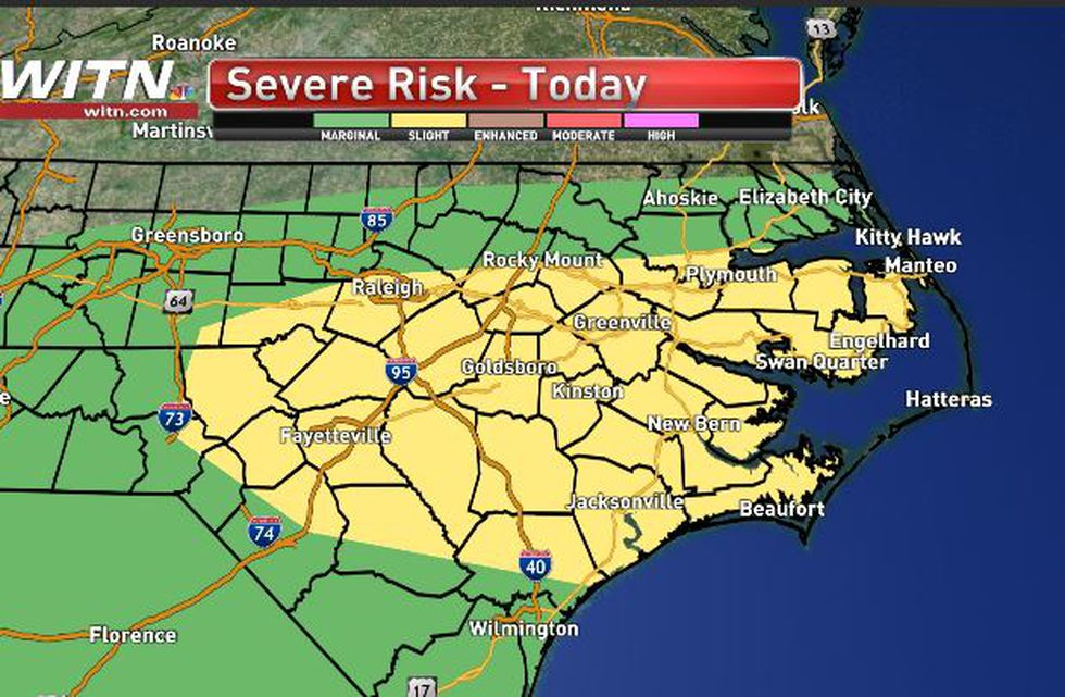 Strong to severe storms possible Monday afternoon