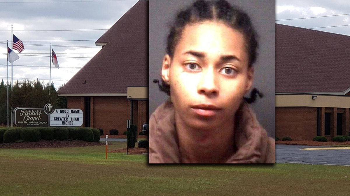 Aijanae Hedges is accused of breaking into this Pitt County church.