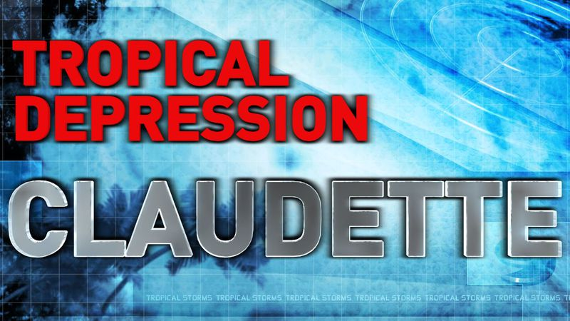 Tropical Depression Claudette Title Image