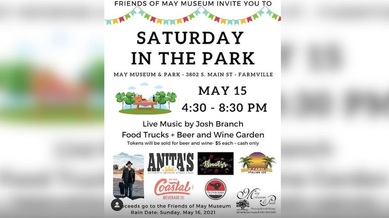 Saturday in the Park to benefit May Museum