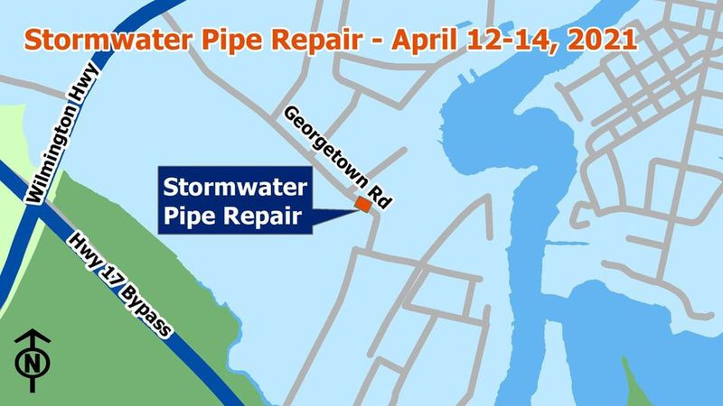 A portion of Georgetown Road will close to traffic overnight for a stormwater line repair on...