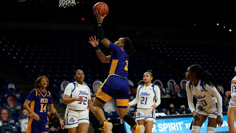 ECU women's basketball at Tulsa on Wednesday, Jan. 20