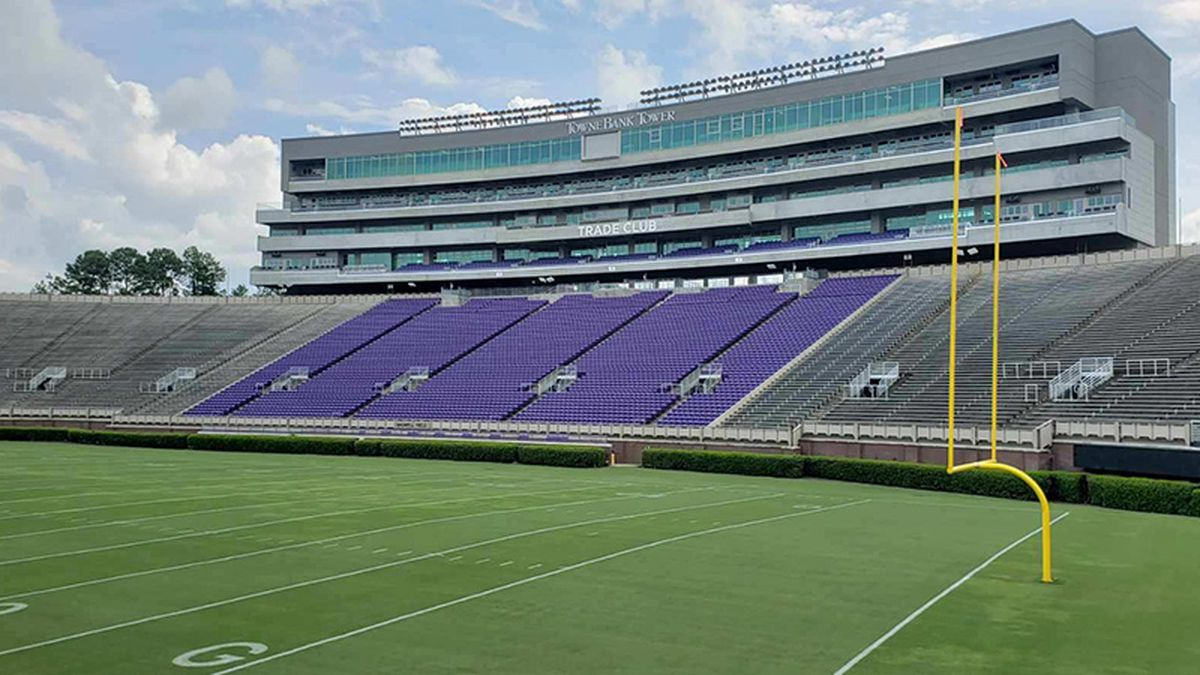 The health director for Pitt County is touring Dowdy-Ficklen Stadium with ECU's interim chancellor on Friday.