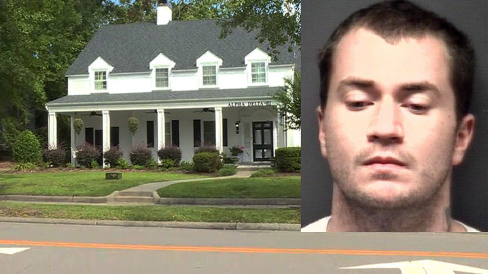 Patrick Canter is accused of smearing satanic messages in his own blood on an ECU sorority house.