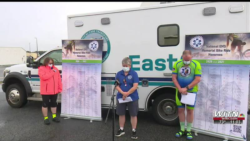 National EMS Memorial Bike Ride makes special stop to remember fallen workers