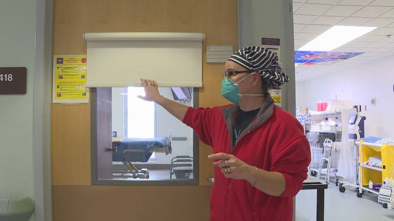 The addition of windows in the COVID-19 unit at UNC Lenoir Health Care months into the pandemic...