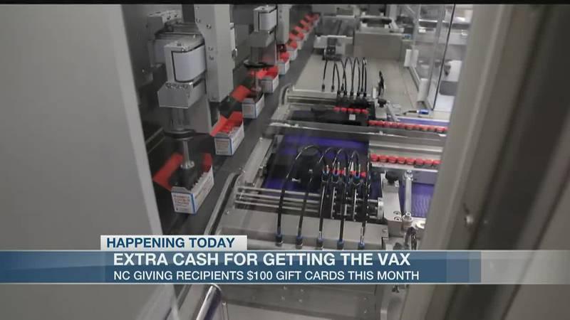 NC announces $100 bonuses for COVID vaccine recipients this month