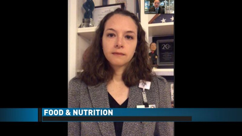 Alison Quebedeaux from CarolinaEast says they are still preparing about 1,000 meals a day.