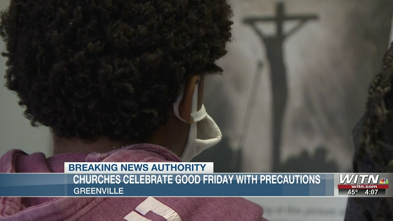 Churches remember Good Friday with precautions
