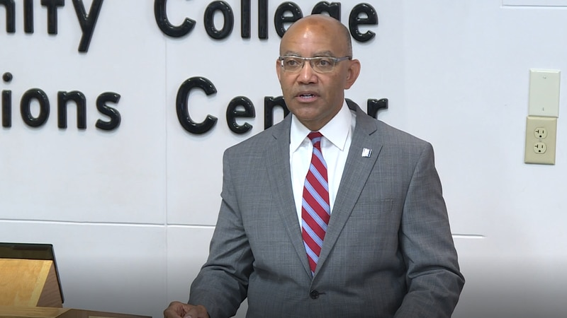 Community College System President visits Martin Community College.
