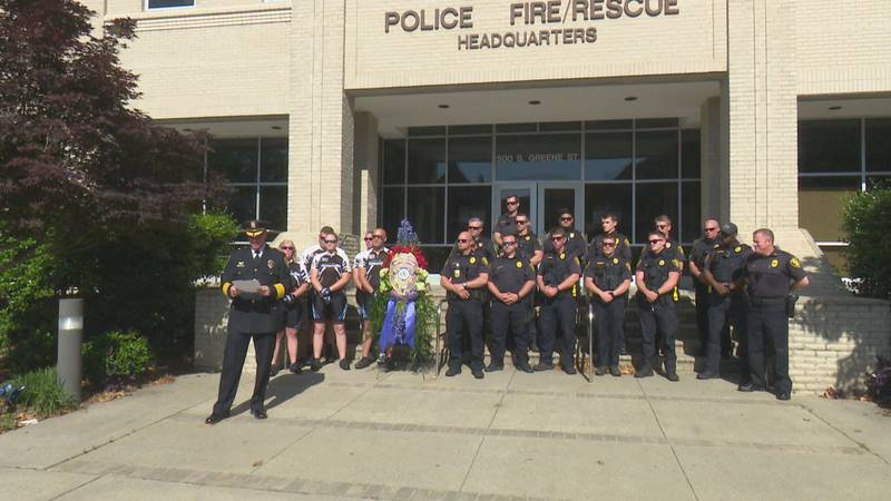 Greenville PD wrap up National Police Week with a memorial.