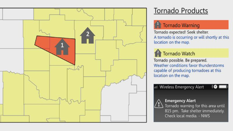 Understand Tornado Alerts.