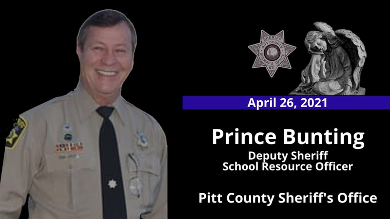 Pitt County Sheriff's Office mourns the loss of Deputy Prince Bunting