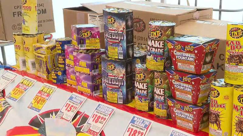 Fireworks stands running low on supplies