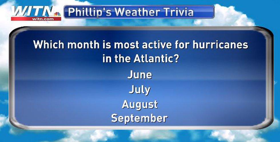 Hurricane Season's most active month