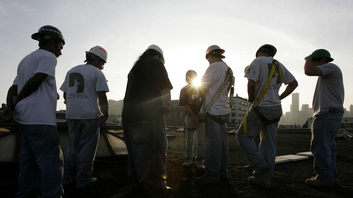 Construction workers (AP Photo/Seth Wenig)