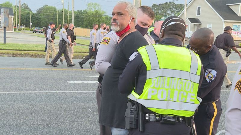 Arrests during day 13 of protests in Elizabeth City