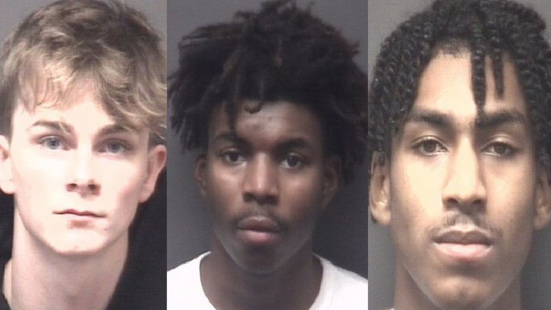 Nicolas Stox, 20, Kasaan Tyson, 18, and Tyquan Artis, 18, all of Greenville.