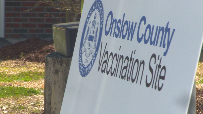 Onslow County second-dose vaccination site.