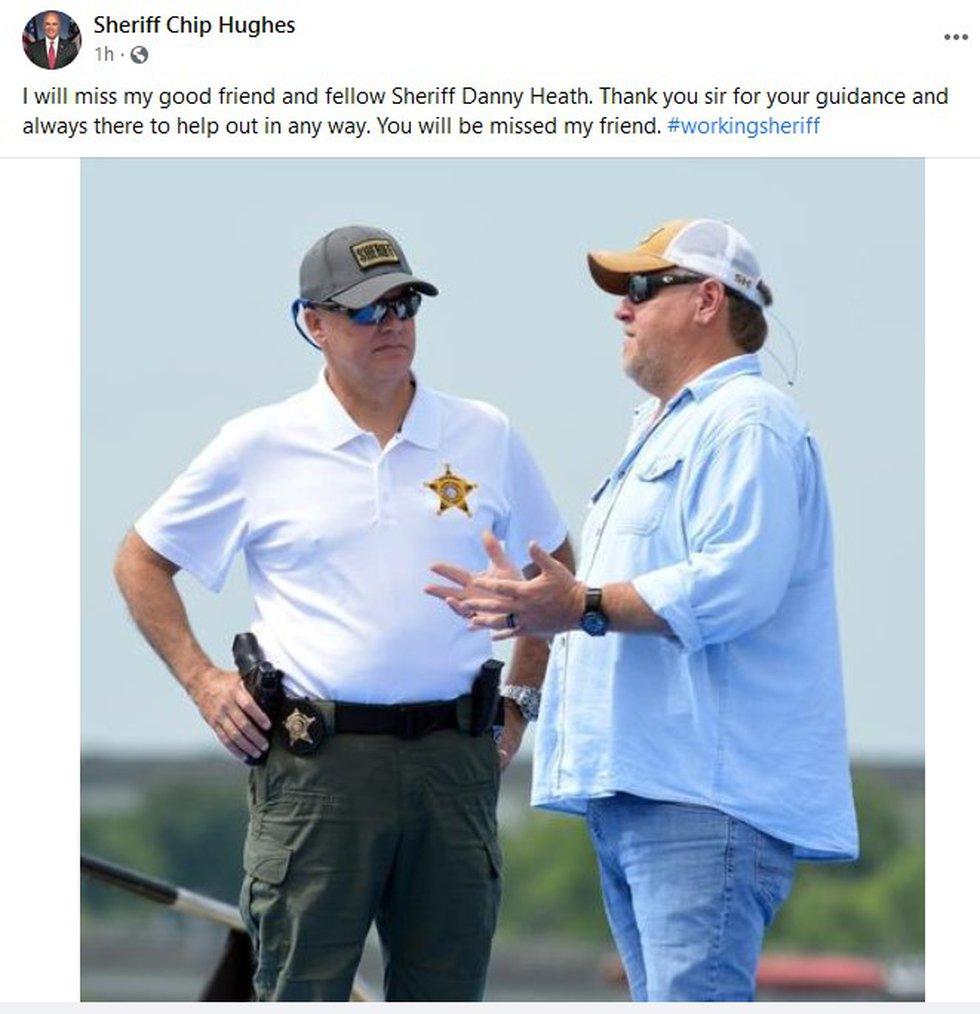 Sheriff Chip Hughes remembering fellow Sheriff Danny Heath