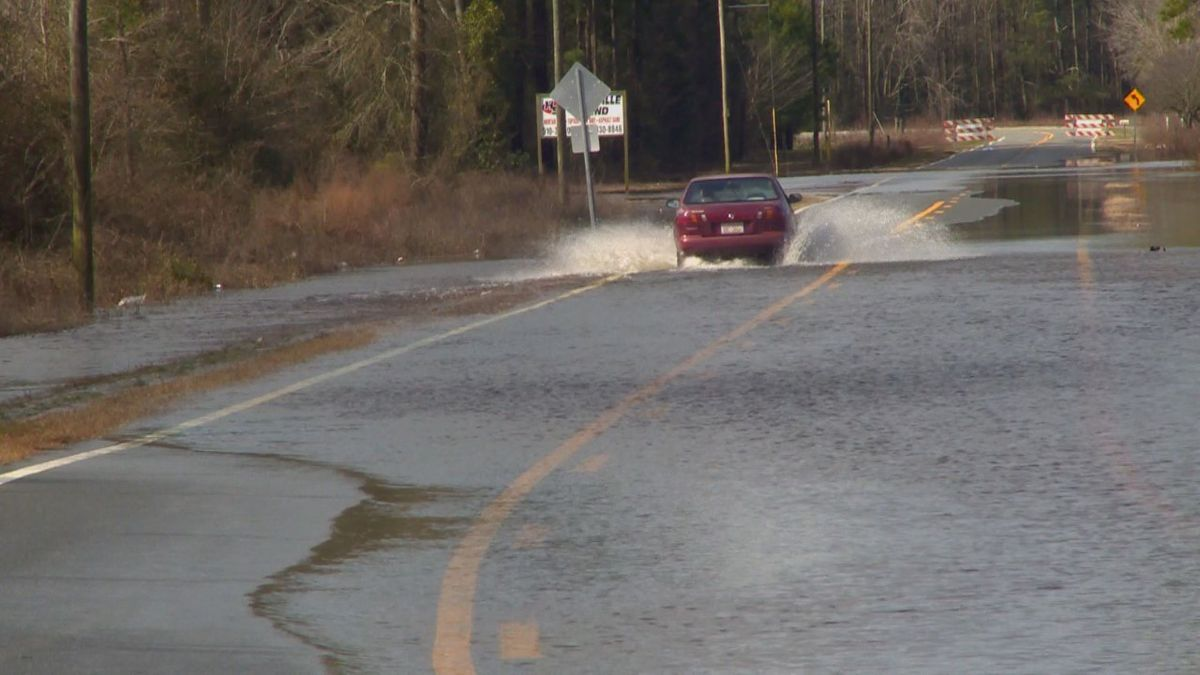 A flash flood watch is in effect for all counties along and south of Highway 64.