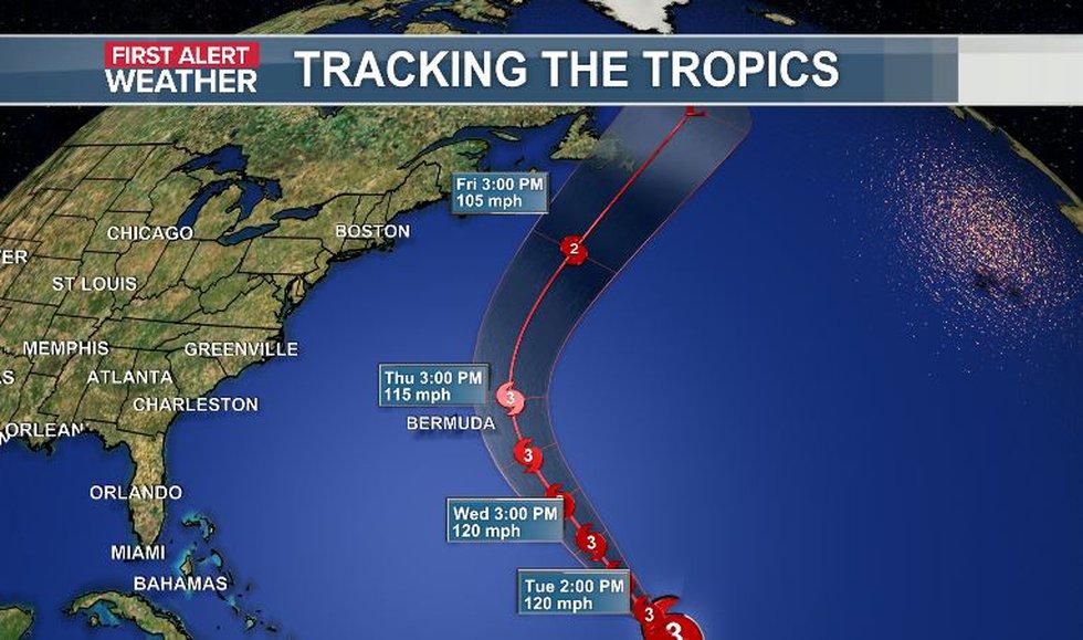 Major Hurricane Larry to turn away