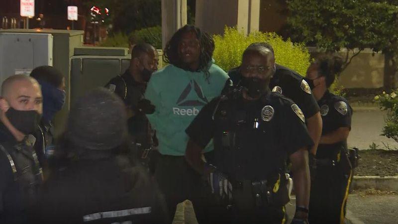 Arrests made as police break up protests