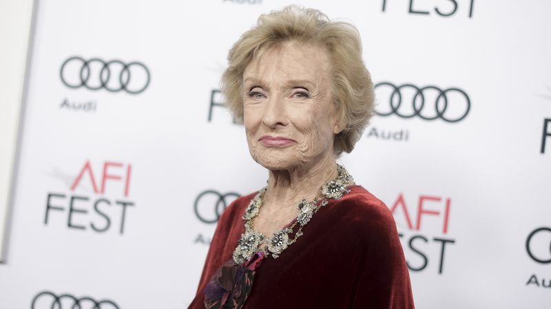 "FILe - In this Nov. 11, 2016 file photo, Cloris Leachman attends the premiere of ""The Comedian""..."