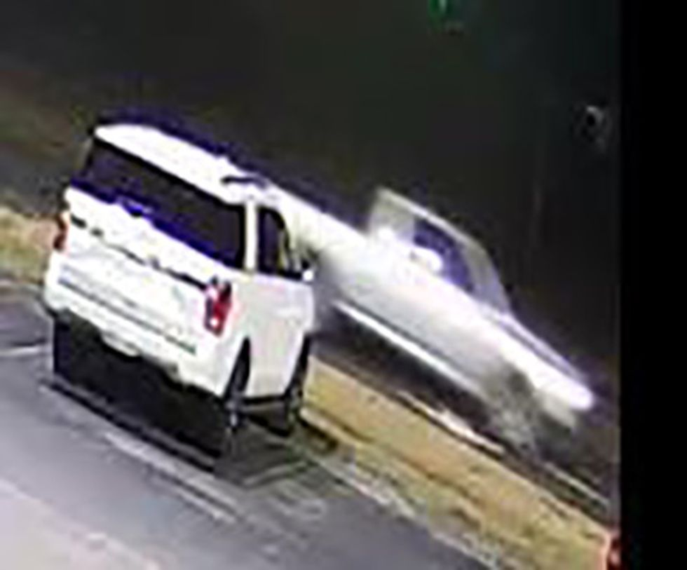 Police say this is a vehicle of interest in the pharmacy robbery.