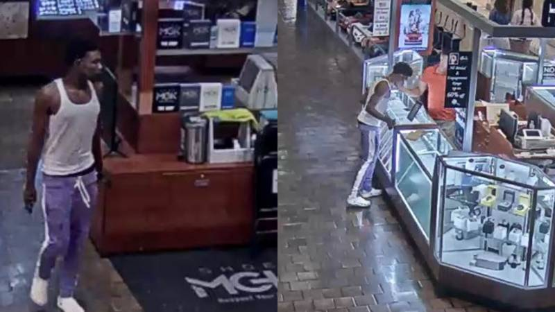 Suspect wanted for Jacksonville Mall theft (Jacksonville Public Safety)