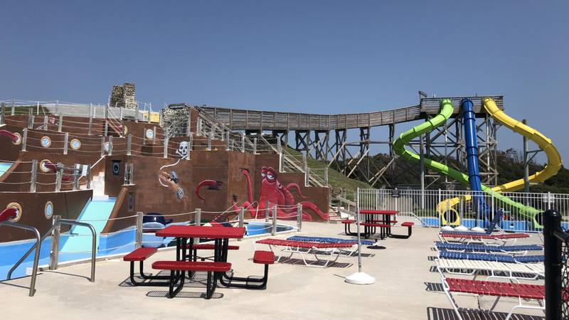 The Salty Pirate Water Park in Emerald Isle