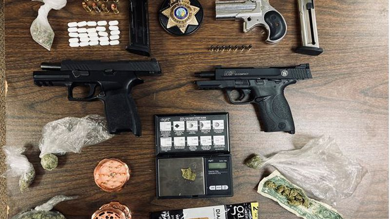 Gun and drug charges in Pitt County.
